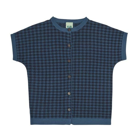 Fub Indigo Gingham Sweater