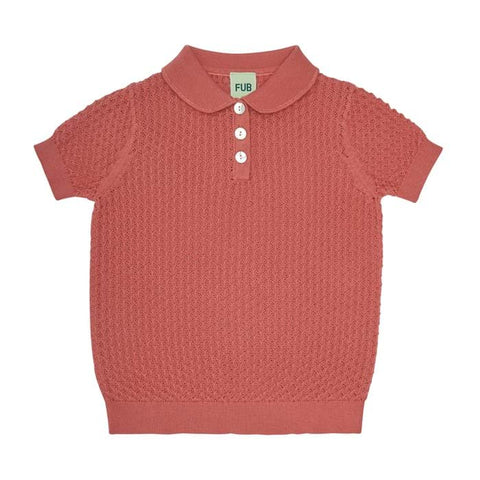 Fub Raspberry Pointelle T-Shirt