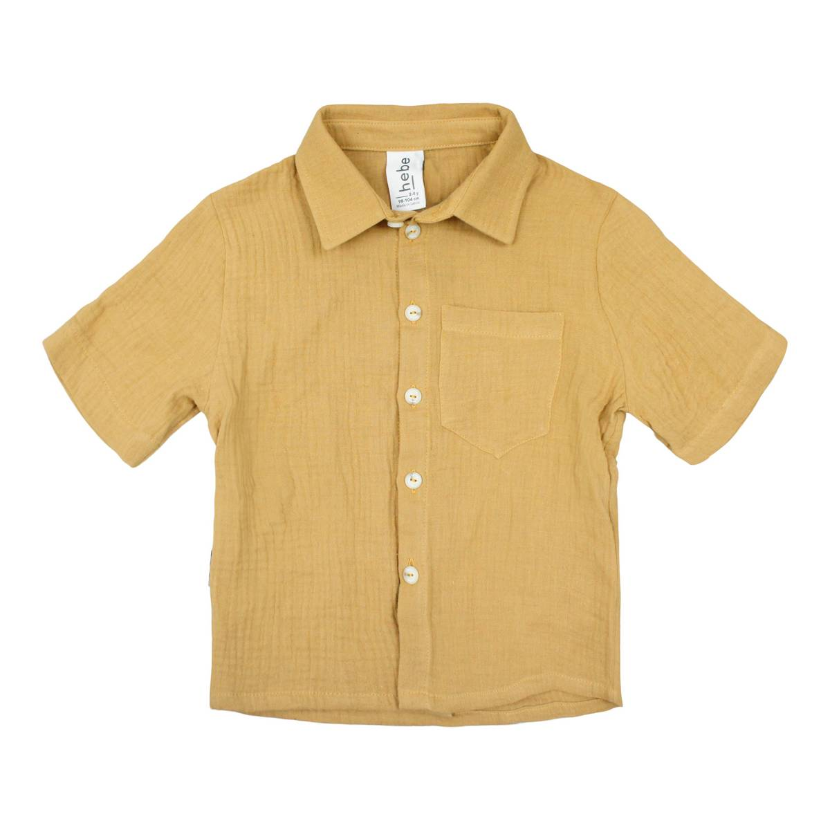 Hebe Light Brown Muslin Shirt
