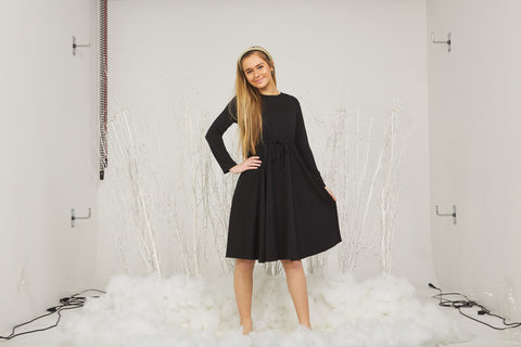 Indigo Black Cable Knit Dress