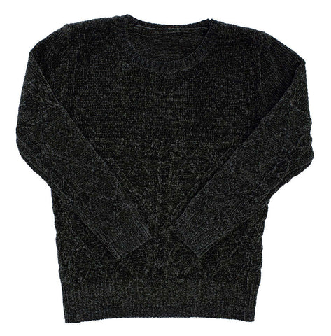 Kipp Black Half Chenille Sweater