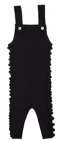 Kipp Black Knit Dot Romper
