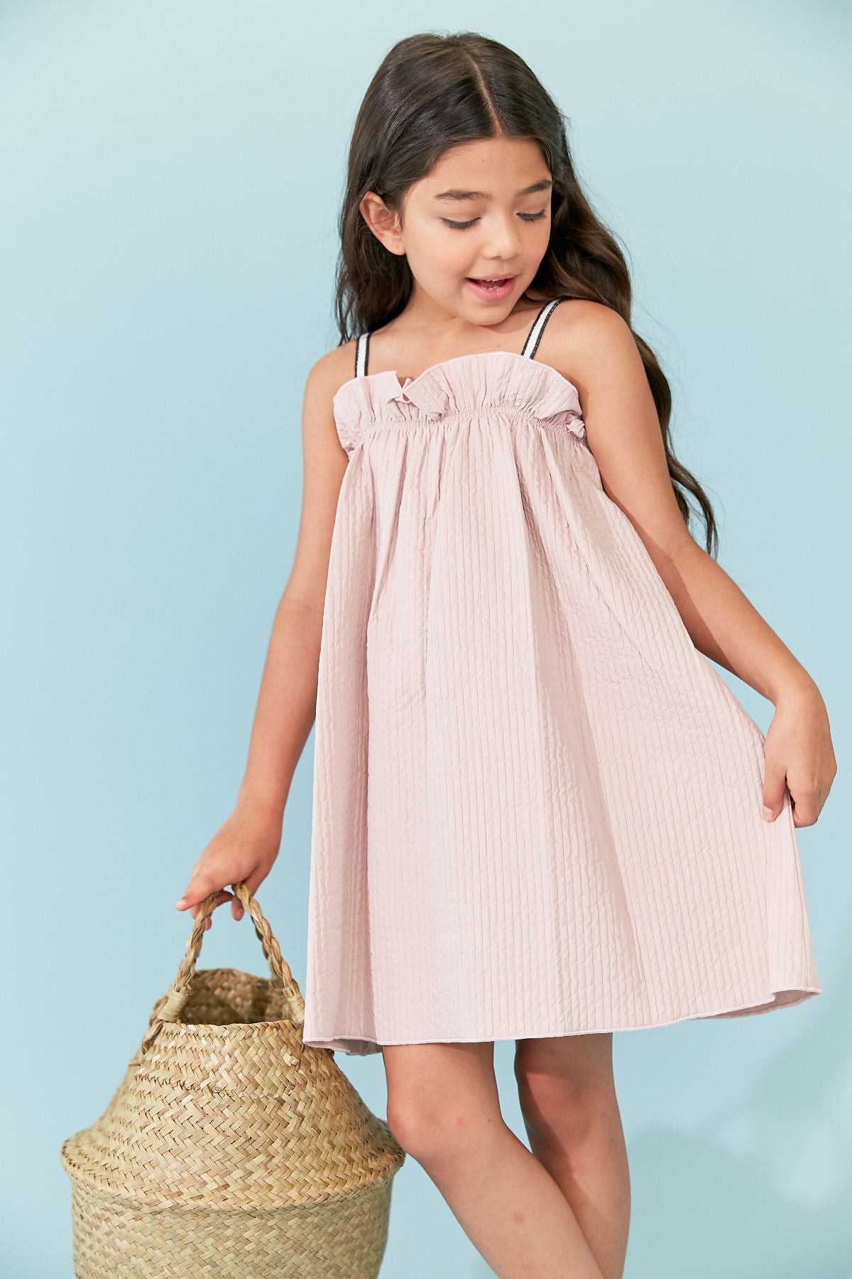 Kipp Blush Pleat Sundress