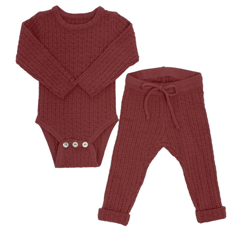 Kipp Blush Weave Knit Set