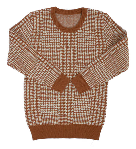 Kipp Cognac Glenn Plaid Sweater