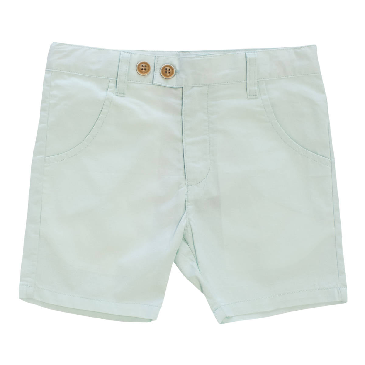 Kipp Mint Polished Cotton Shorts