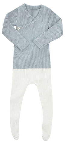 Kipp Sage Colorblock Knit Wrap Set