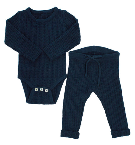 Kipp Teal Weave Knit Set