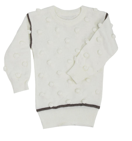 Kipp White Knit Dot Sweater Set