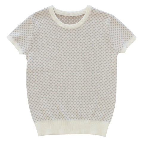 Kipp White Two Tone Textured Sweater