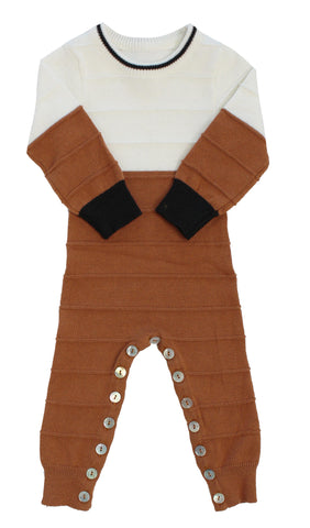 Klai Rust Colorblock Romper