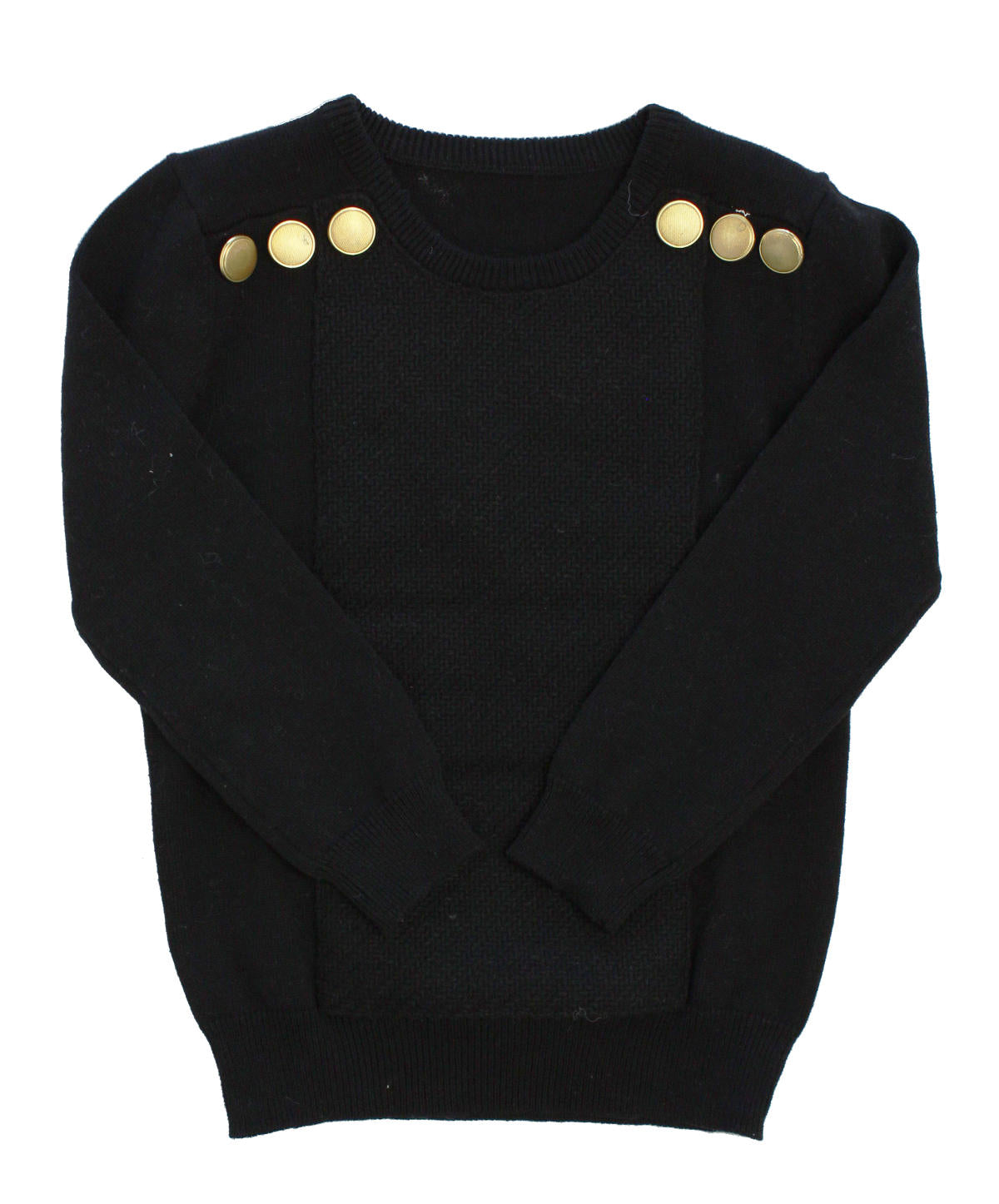 Klain Black Button Sweater