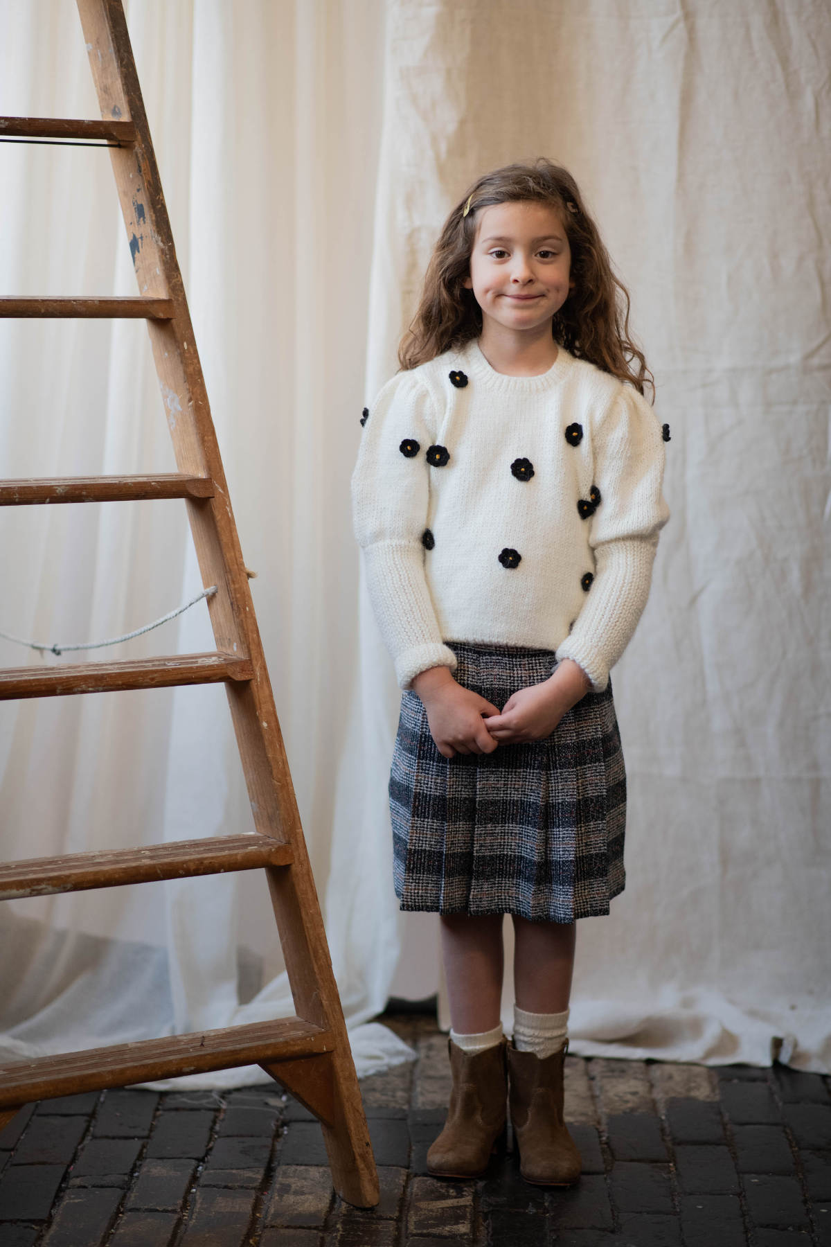 Kokori Navy Plaid Hannah Skirt