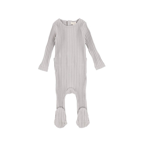 Lil Legs Cloud Grey Wide Ribbed Footie