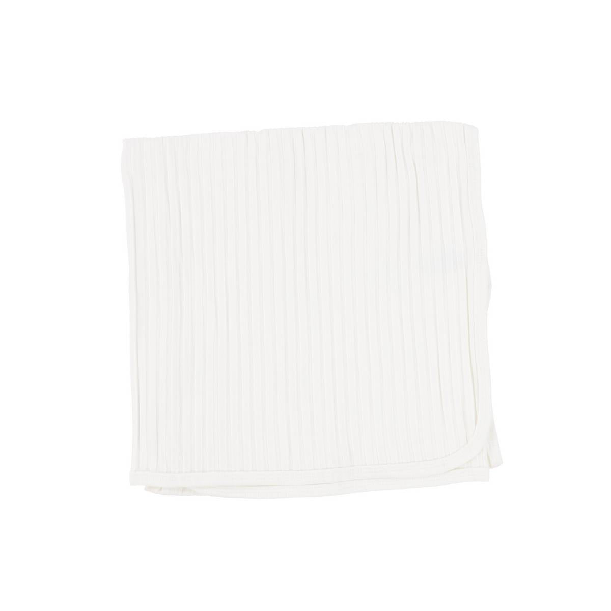 Lil Legs Winter White Wide Ribbed Blanket