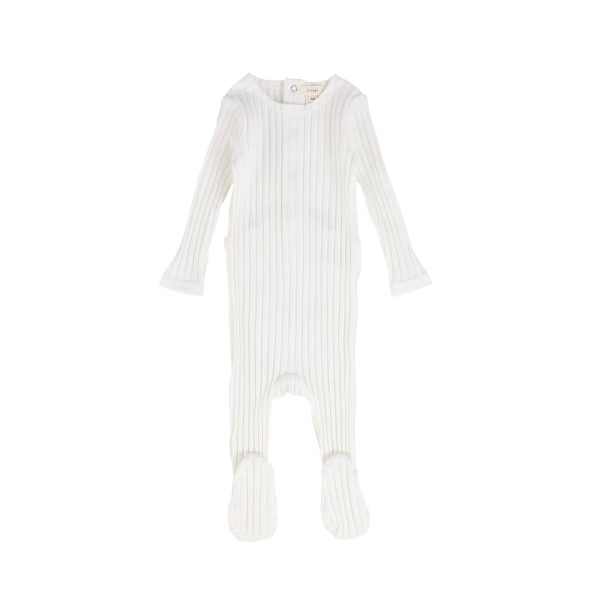 Lil Leg Winter White Wide Ribbed Footie