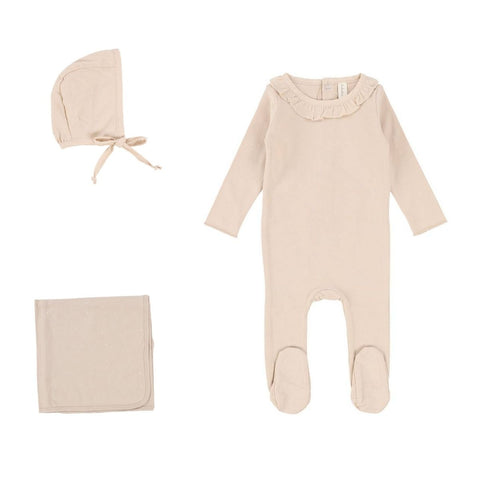 Lilette Nude Pink Ruffle Take Me Home Set