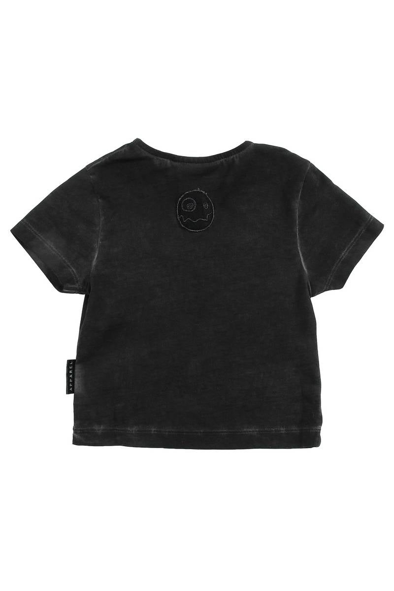 Loud Apparel Black Wash Look T-Shirt
