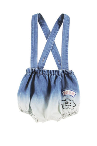 Loud Apparel Bleach Blue Gold Bloomers
