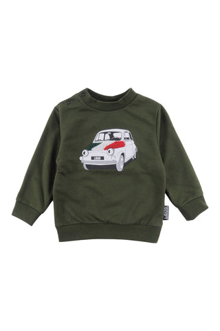 Loud Military Green Drama Sweater
