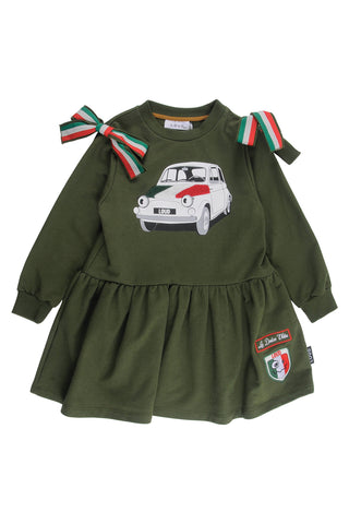 Loud Military Green Emma Dress