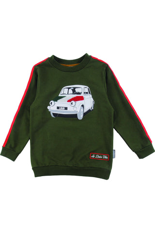 Loud Military Green Via Veneto Sweater