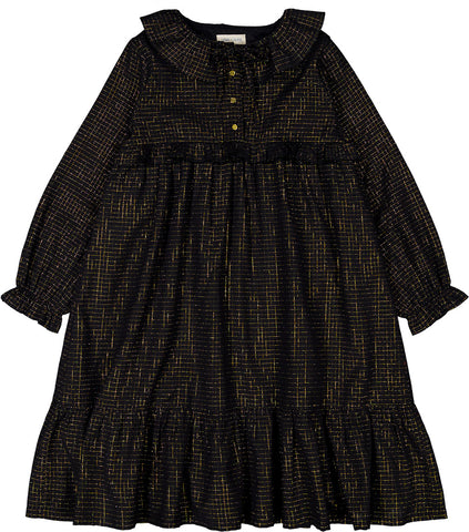 Louis Louise Black Arabella Check Lurex Dress