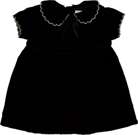 Louis Louise Black Serena Velvet Dress