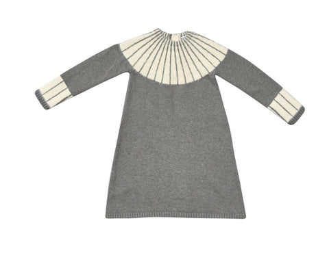 Blumint Grey Intarsia Yoke Dress