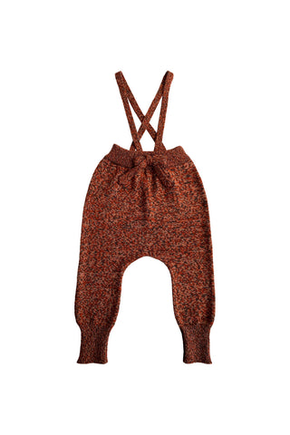Mabli Brick Knitted Suspender Pants