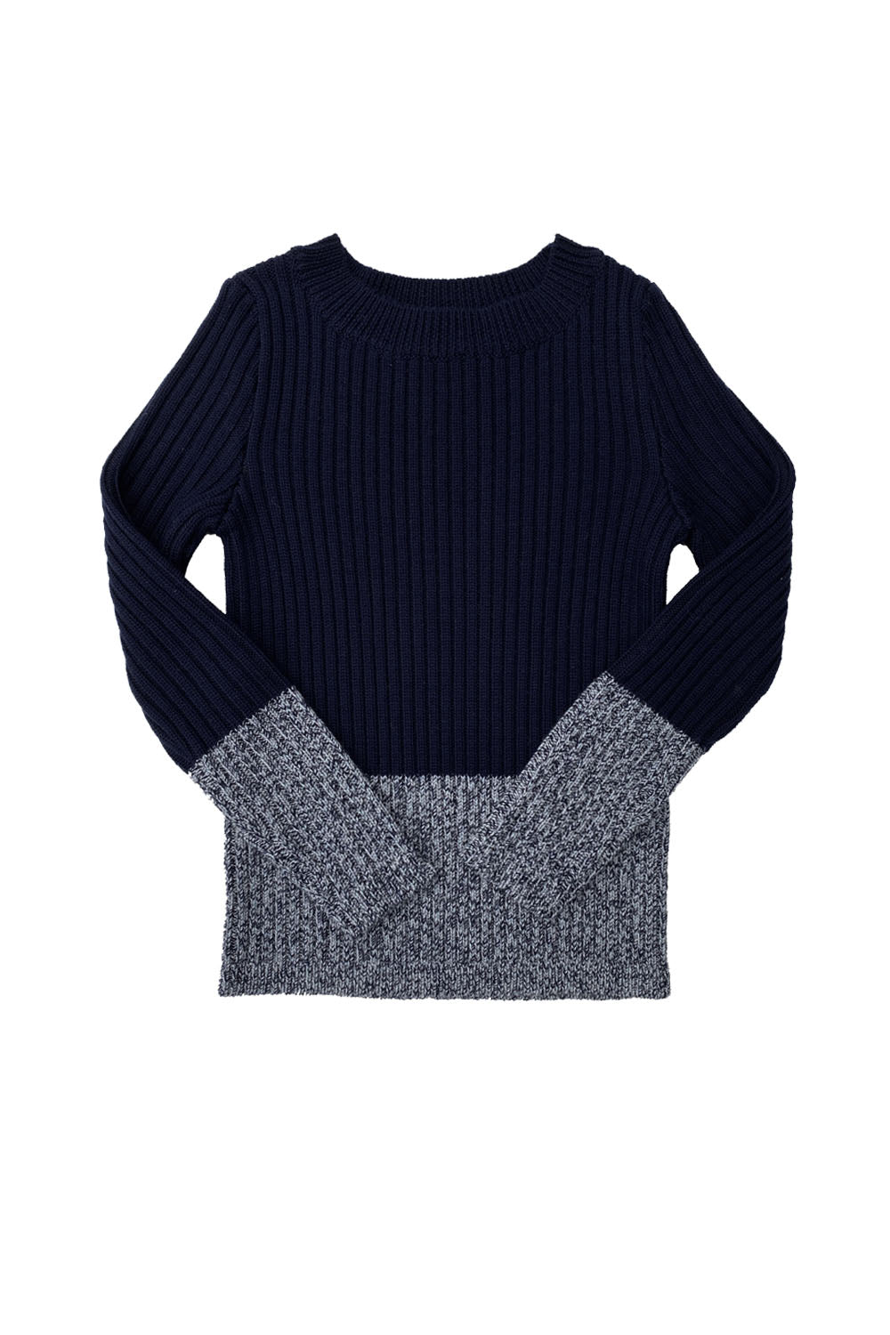 Mabli Indigo Color Block Knitted Sweater