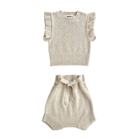 Mabli Sand Knitted Freckle Set