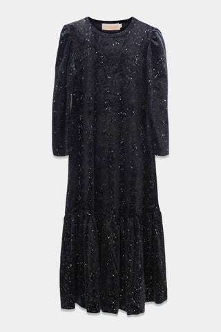Madyson Black Harcourt Velvet Dress