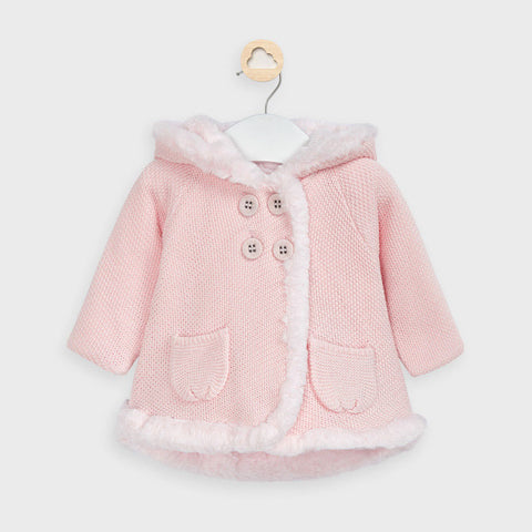 Mayoral Baby Rose Pompom Knit Cardigan