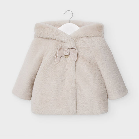Mayoral Beige Fur Coat