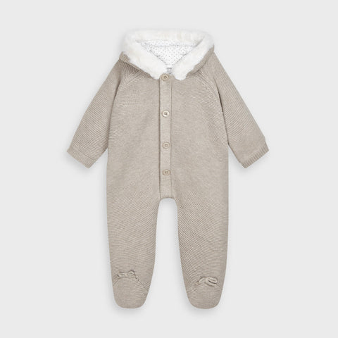 Mayoral Beige Knit Overall