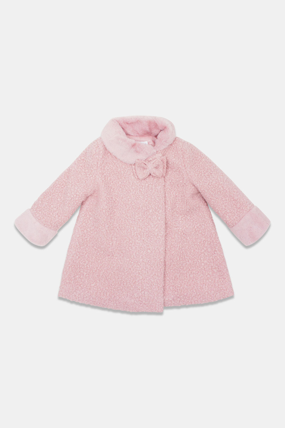 Mayoral Blush Teddy Coat