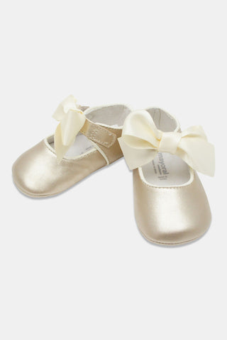 Mayoral Gold Baby Mary Janes