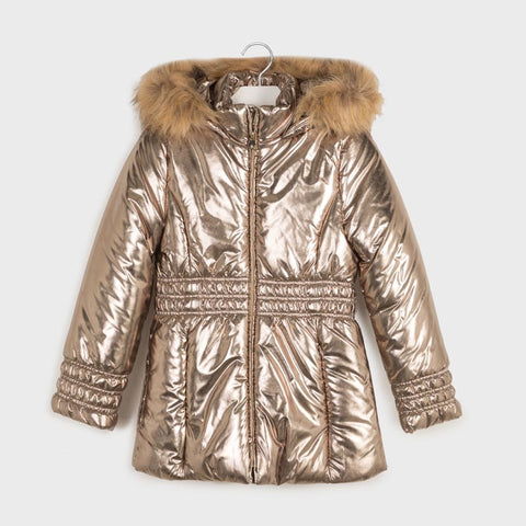 Mayoral Gold Metallic Coat