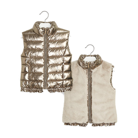 Mayoral Gold Reversible Vest