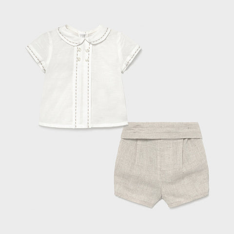Mayoral Linen Short Set