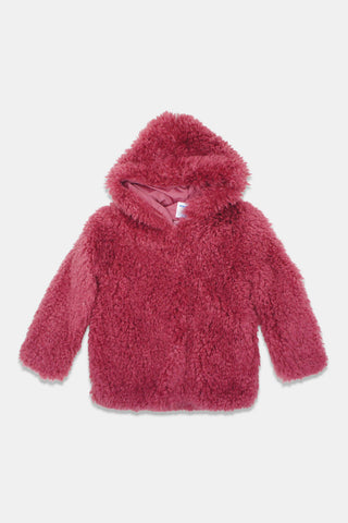 Mayoral Magenta Teddy Coat