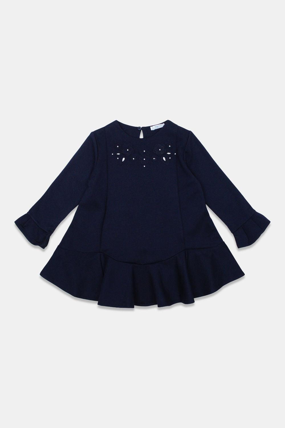 Mayoral Navy Applique Dress