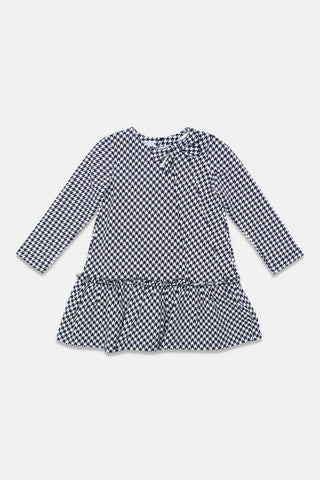 Mayoral Navy Hounds tooth Dress