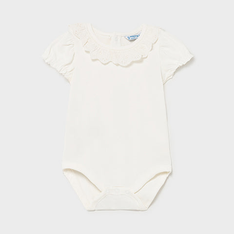 Mayoral Ruffle Natural Bodysuit