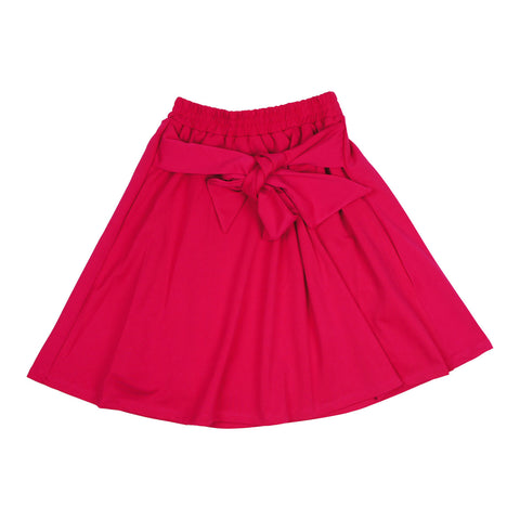MeMe Girls' Rasperry Tie Skirt
