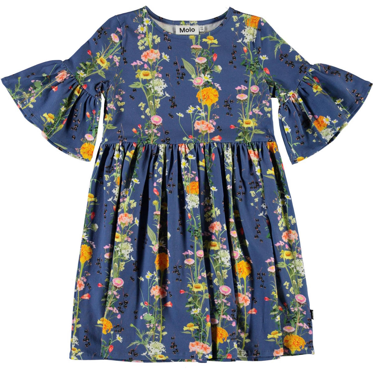 Molo Blue Flower Chasity Dress