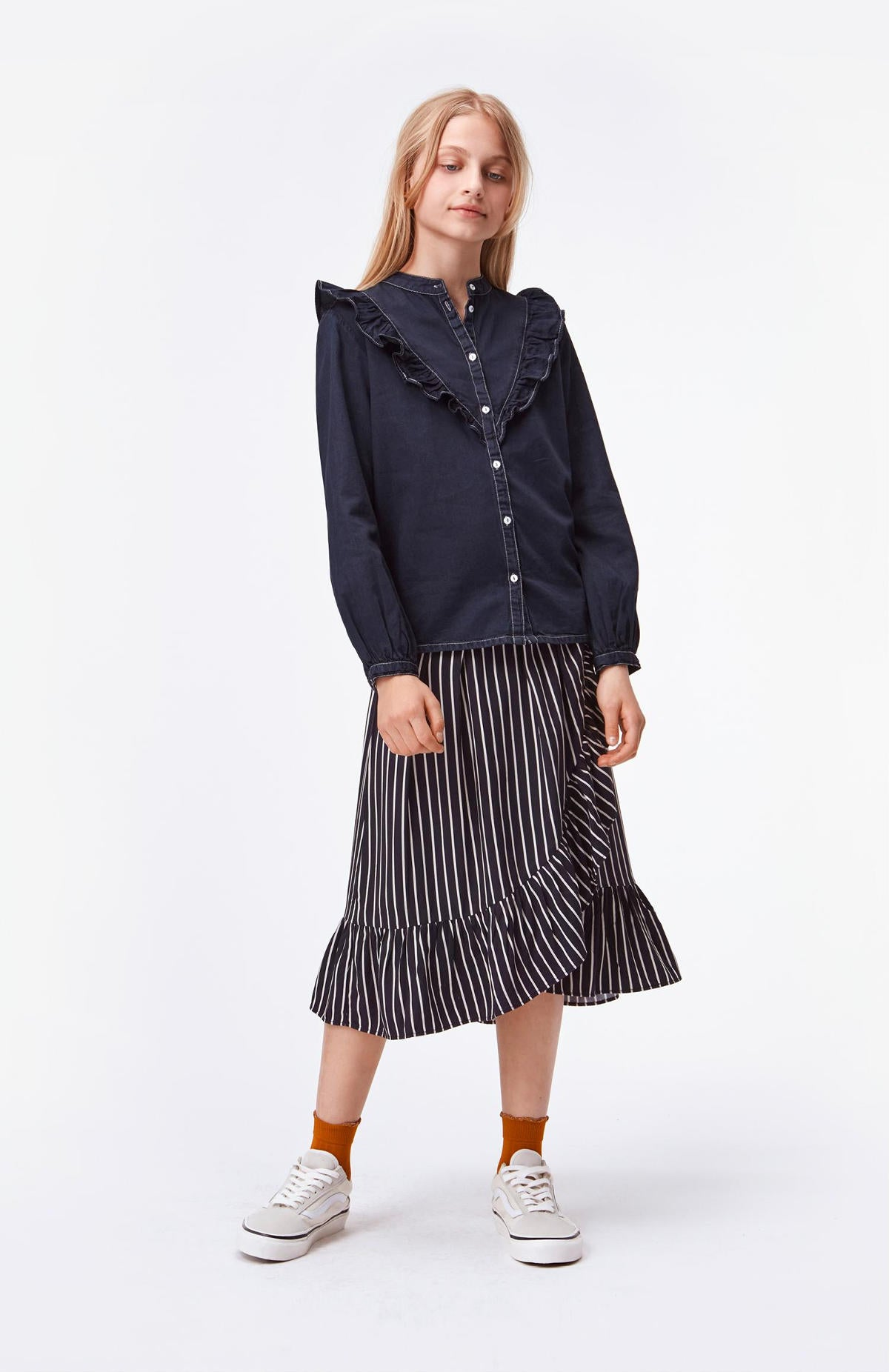 Molo Navy Stripe Blondie Skirt