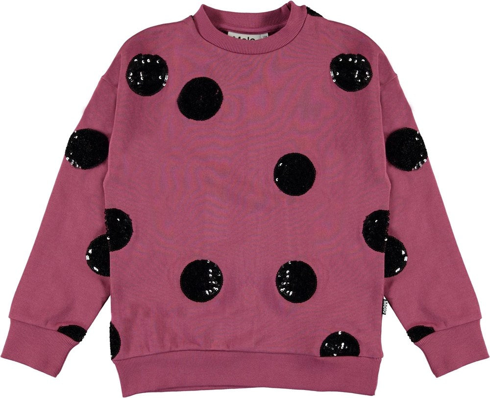 Molo Raspberry With Sequin Dots Manon Sweater
