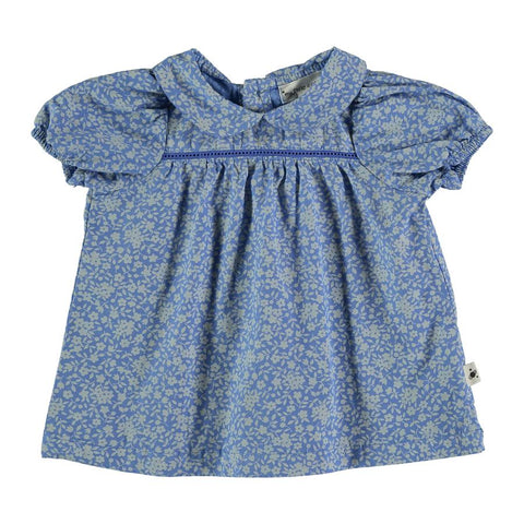 My Little Cozmo Blue Floral Gianna Dress